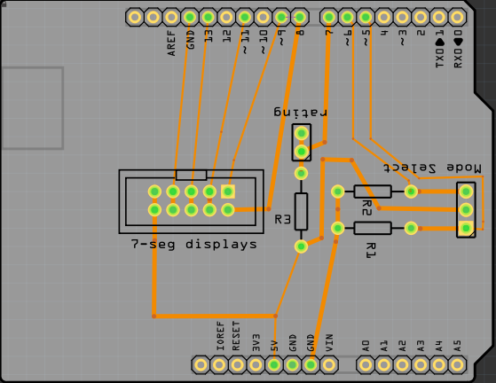 PCB design of the original arduino UNO shield